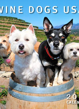 Wine Dogs USA 2017 Calendar